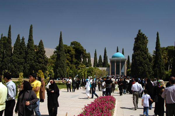 Shiraz.Gardens Tomb of the poet Sadi