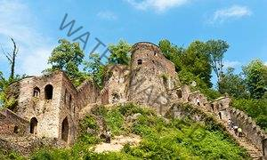 View of Rudkhan castle in Fuman, Gilan Province, Iran.
