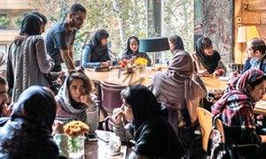 Coffee bar in Tehran.