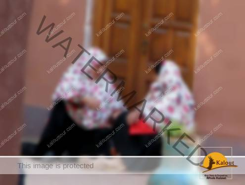 Women Having a Chat in front of Their Houses at Abyaneh