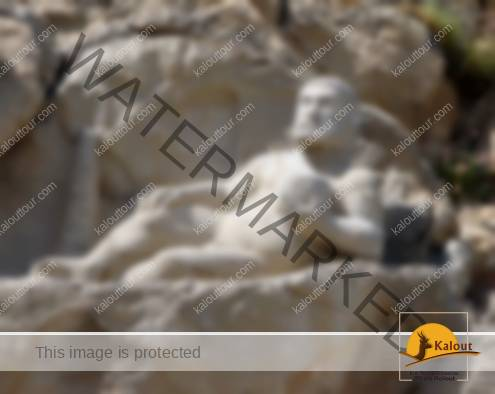 Statue of Herakles Recumbent at Bisotun