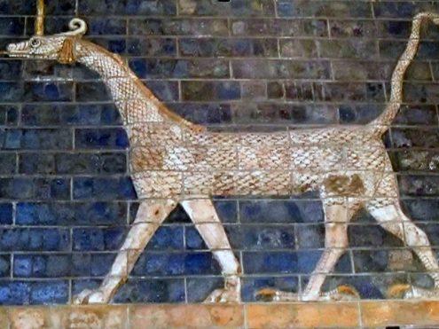 Bas-relief of Mushussu in the Pergamon Museum,
