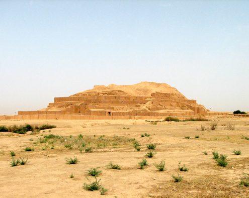 General view of Tchogha Zanbil Elamite Temple