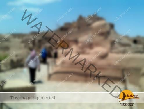 Tourists visiting the ancient city of Bam after earthquake