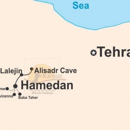 Hamedan map