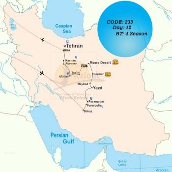 Central Iran Desert Map 28461-233