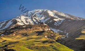 Mount Damavand, highest peak in Iran.