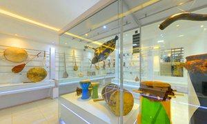 Instruments on display at Isfahan Music Museum, Isfahan, Iran.