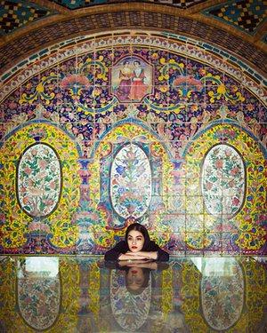 Tiling in Golestan palace, Iran.