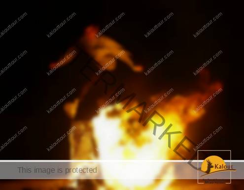 Jumping over fire at Chaharshanbeh Soori