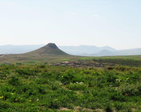 Zendan-e Soleyman near Takht-e-Soleyman