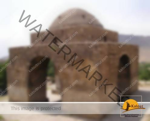 Calendar Building in form of a fire temple, Niasar, Iran