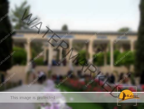 Colonnade Portico divides the garden into two parts between the entrance and the tomb itself