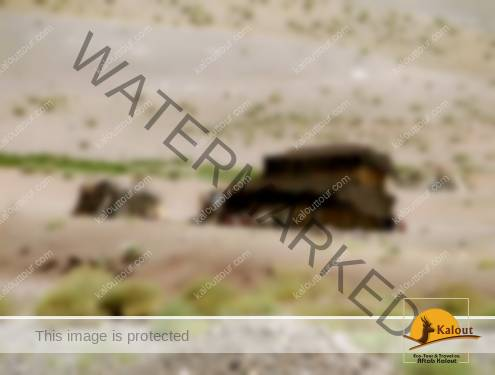 Black tent of some nomads in Iran
