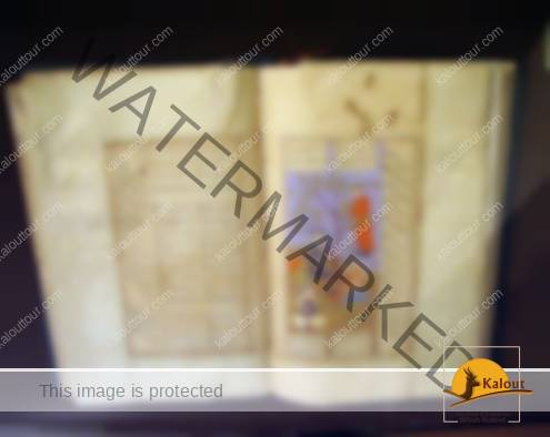 A book of Persian poems with miniature paintings