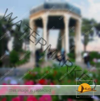Tomb of Hafez decorated with flowers