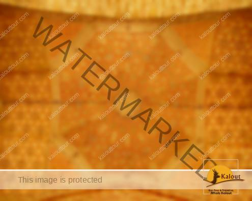 Plaster work decoration of the balcony under the dome at Soltaniyeh