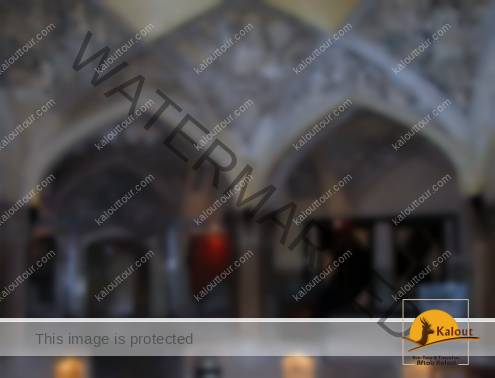 Inside Vakil Bathhouse in Shiraz during a Carpet Exhibition