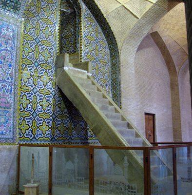 Famous Minbar of Vakil Mosque in Shiraz, Iran