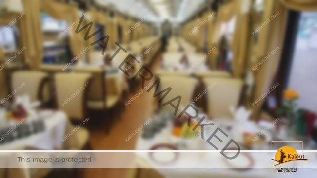 "A view of the interior of the ""Golden Eagle"" train that has just arrived in Iran in a maiden trip that started from Russia."