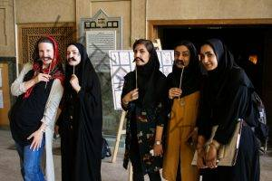 Esfahan's Forty-Column Palace has an impressive variety of mustaches depicted in the artwork on its walls. On the day we visited, they honored their mustache heritage with a make-your-own-Persian-'stache station.