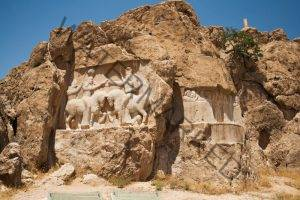 This third-century relief at Naqsh-e Rustam, just a few miles from Persepolis, depicts the beginning of an empire: Ardashir, the first Sassanid king, is receiving a ring of kingship from the Zoroastrian deity Ahuramazda. The empire only ended four centuries later with the arrival of Islam in Iran.