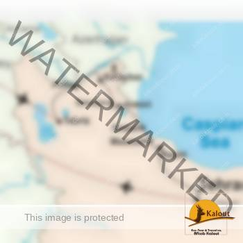 Caspian Sea Tour Map